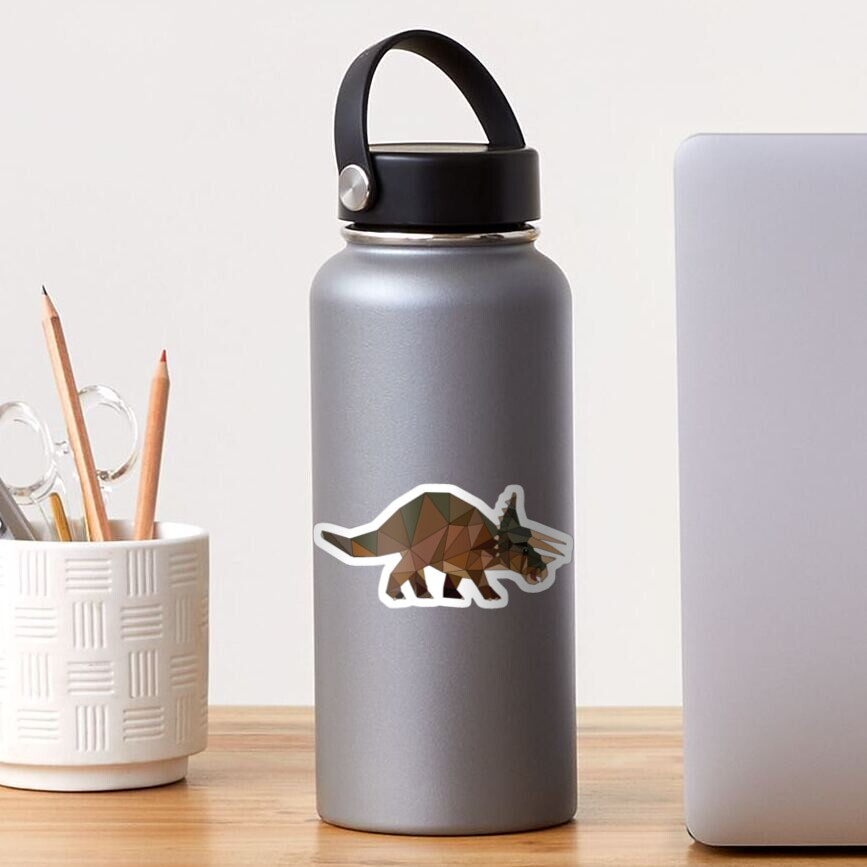 Triceratops  Dinosaur Stickers and T-Shirts Sticker