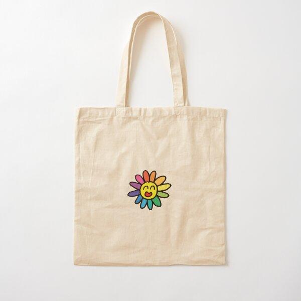 flor de takashi murakami Bolsa de algodón