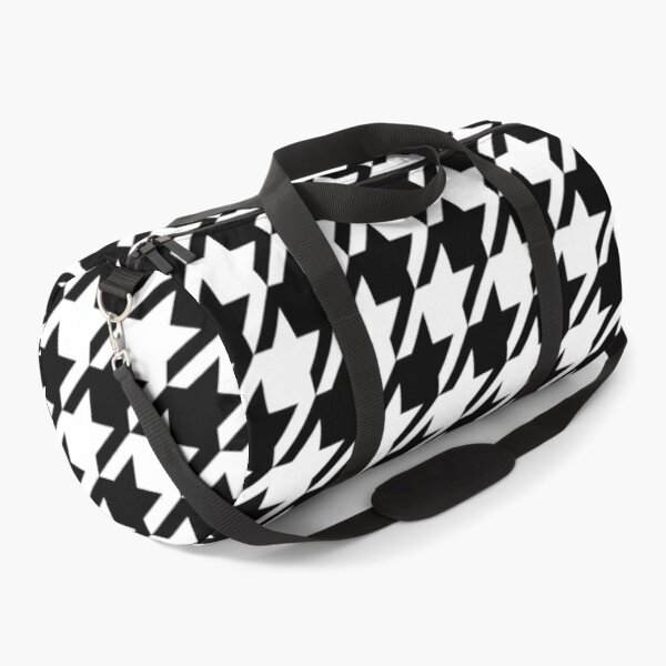 Houndstooth Large Classic Pattern Duffle Bag