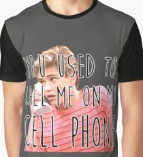 Zack Morris Cell Phone Graphic T-Shirt