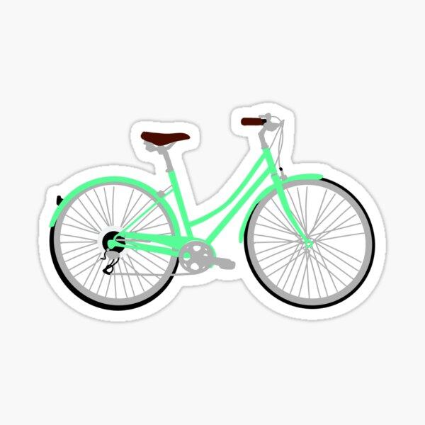 Bright Green Bike Sticker
