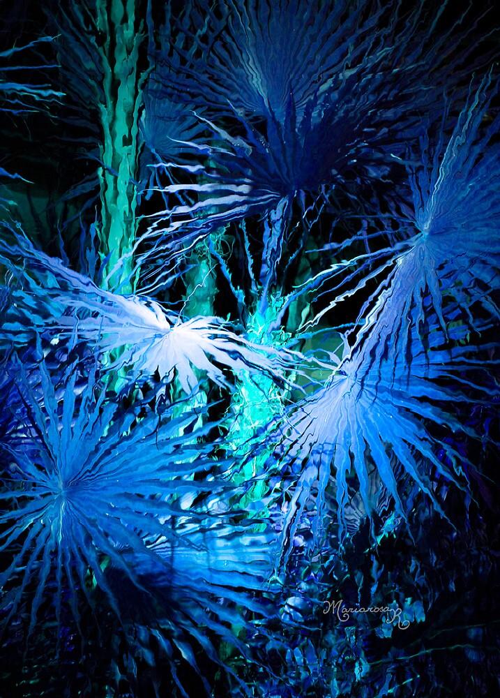 Blue Palms by MariarosaR