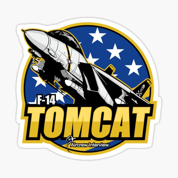F14 Tomcat Vinyl Decal F14 Tomcat Fighter Jet Tumbler Decal
