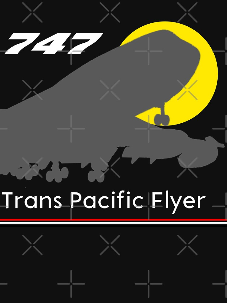 747 Trans Pacific Flyer (Red, White, Black) by AvGeekCentral