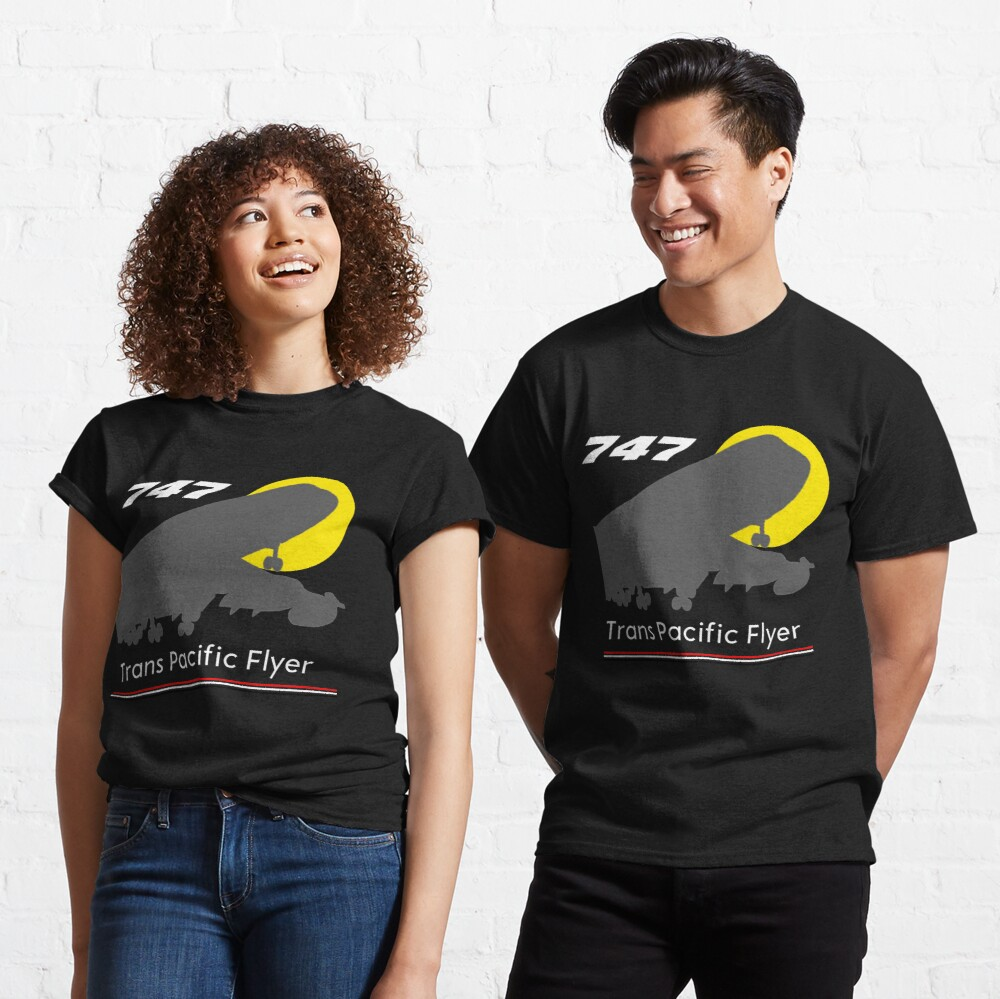 747 Trans Pacific Flyer (Red, White, Black) Classic T-Shirt