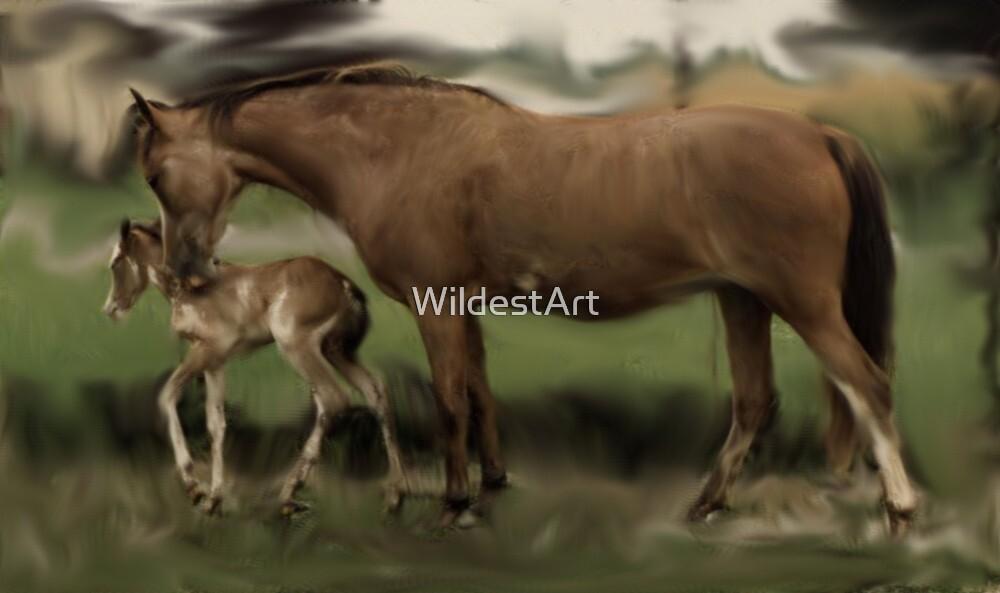 New Mom by WildestArt