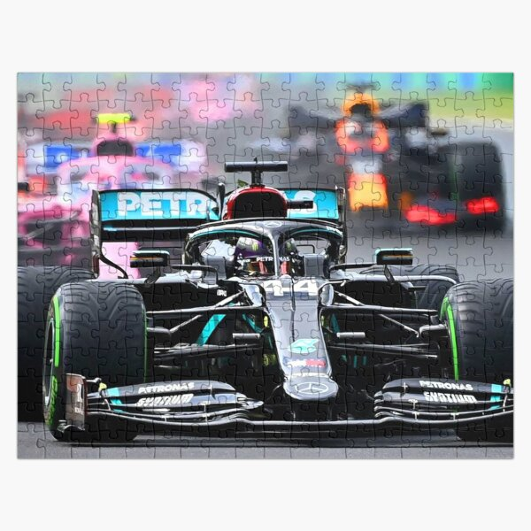 Lewis Hamilton in front of Lance Stroll and Max Verstappen during the start of the 2020 Hungarian Grand Prix Jigsaw Puzzle