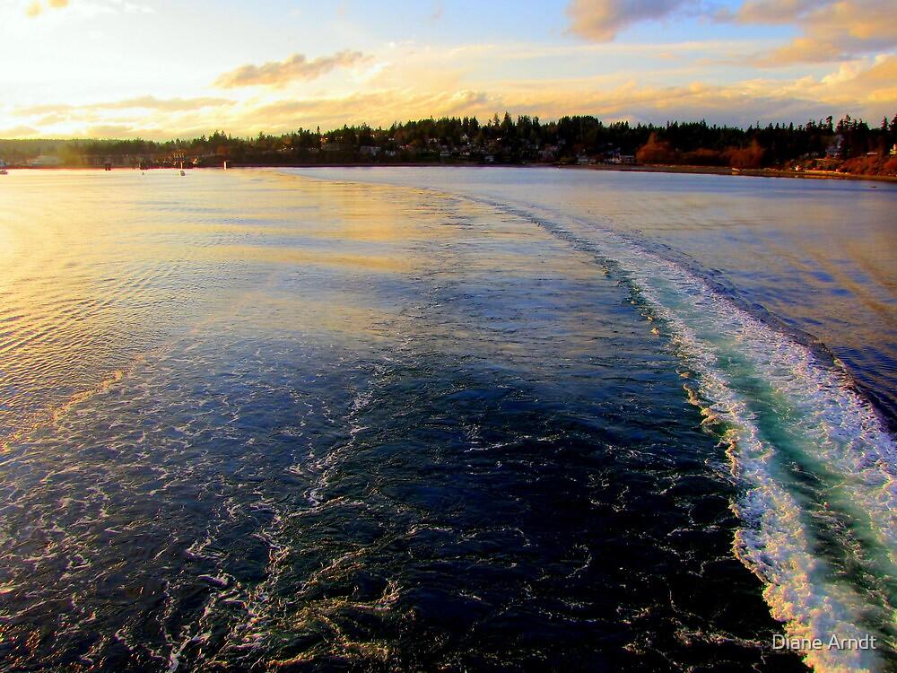 On The Wanachee Ferry. From Seattle To Paulsbo, Washington by Diane Arndt