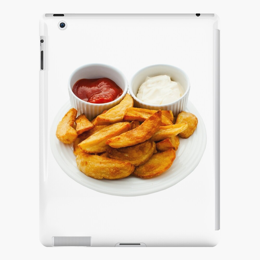 Chips with Mayonnaise and Tomato Dips iPad Case & Skin