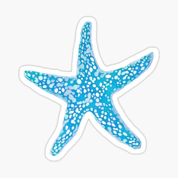 Starfish, Aqua Blue Sticker