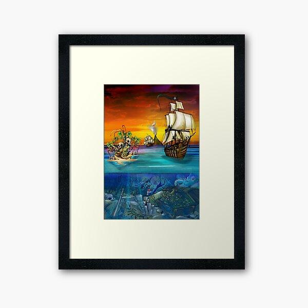 The Pirate Seas Framed Art Print