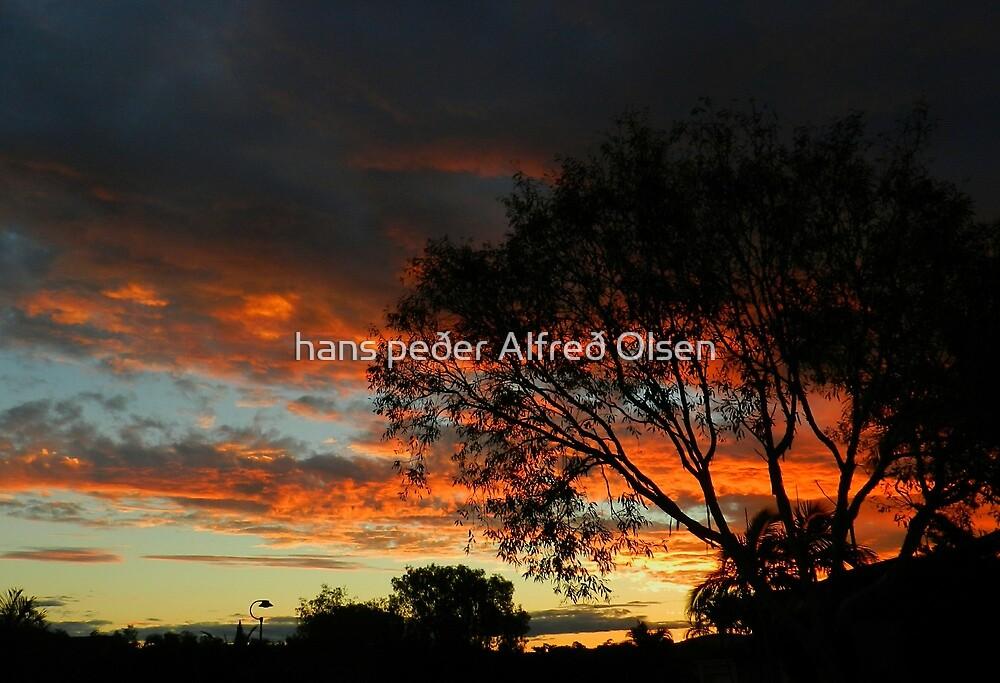Evening sky by hans peðer alfreð olsen