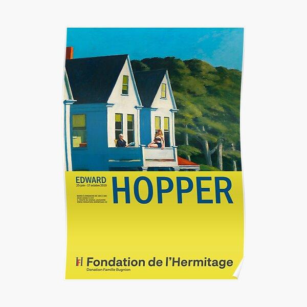 Edward Hopper - Second Story Sunlight - Minimalist Exhibition Art Poster Poster