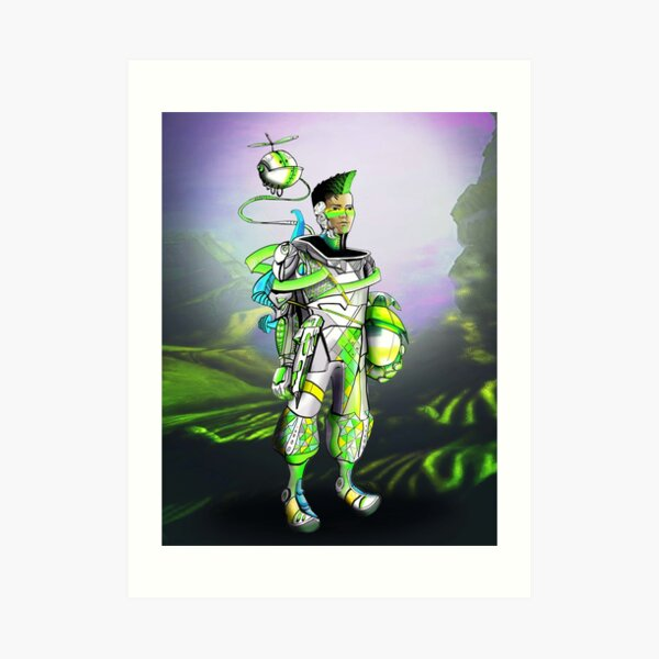 Capt. Mykl Light Art Print