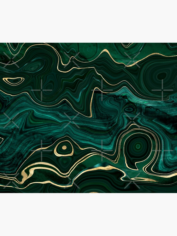 Malachite Marble Texture With Gold Veins I by MysticMarble