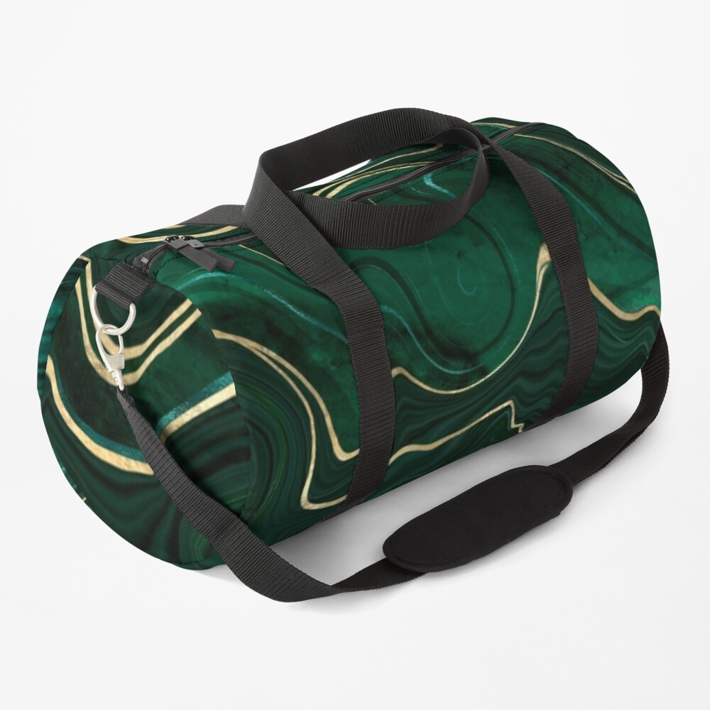 Malachite Marble Texture With Gold Veins I Duffle Bag