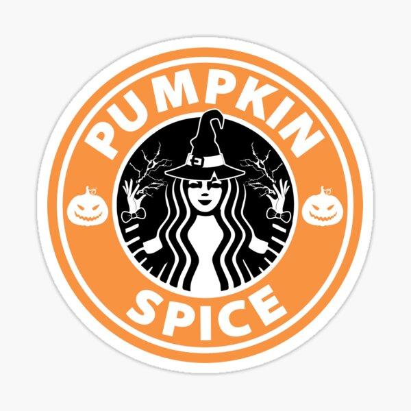 Pumpkin Spice Coffee Logo Sticker