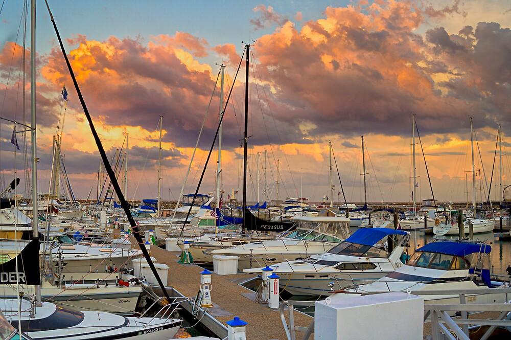Sunset Marina by James Meyer