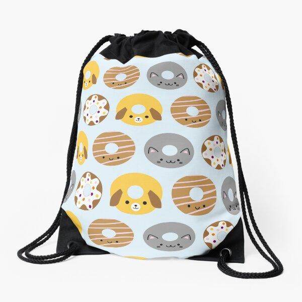 Kawaii Animal Donuts Drawstring Bag