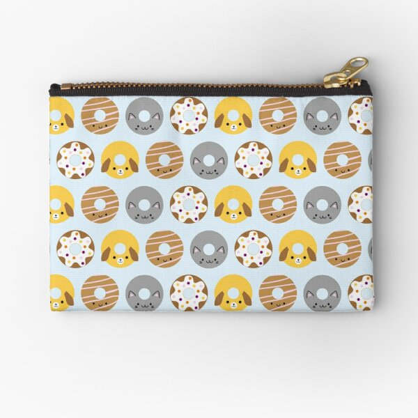 Kawaii Animal Donuts Zipper Pouch