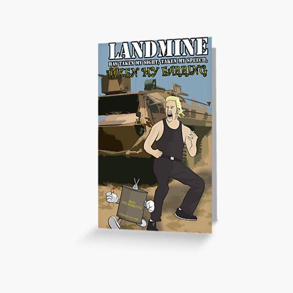 Landmine Has Taken My Sight, Taken My Speech, Taken My Earring Greeting Card