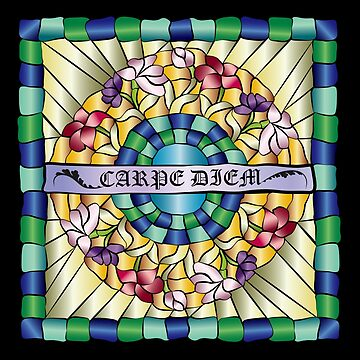 Colorful Hand-Drawn Jewel Stained Glass Flowers by beverlyclaire