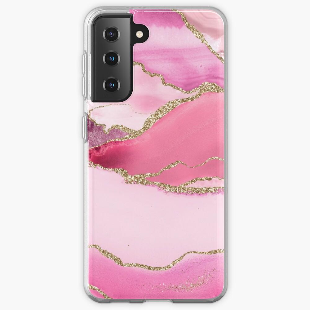 Pink Blush Agate Marble Landscape Case & Skin for Samsung Galaxy