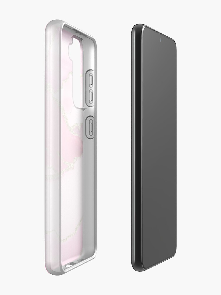 Alternate view of Pink Blush Agate Marble Landscape Case & Skin for Samsung Galaxy