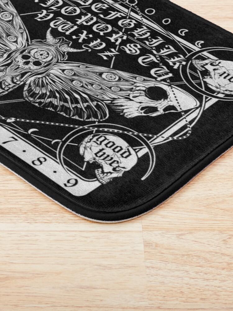 Alternate view of Death Moth Spirit Board Bath Mat