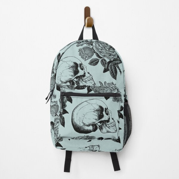 Skulls And Roses • Pastel Blue • Romantic Goth Backpack