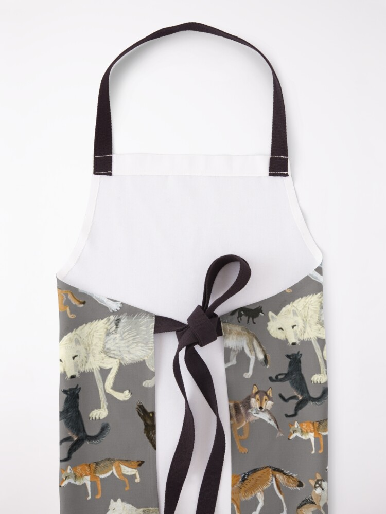 Alternate view of Wolves of the world - Grey Apron
