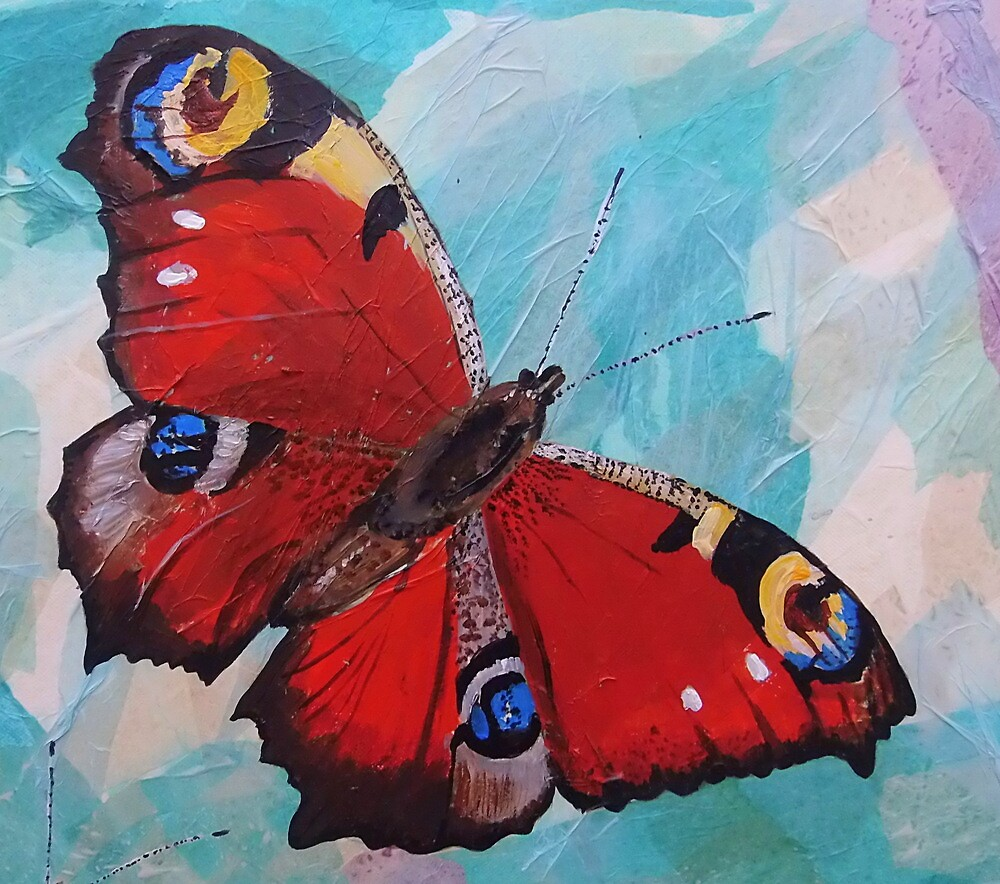 Peacock butterfly by Sam Burchell
