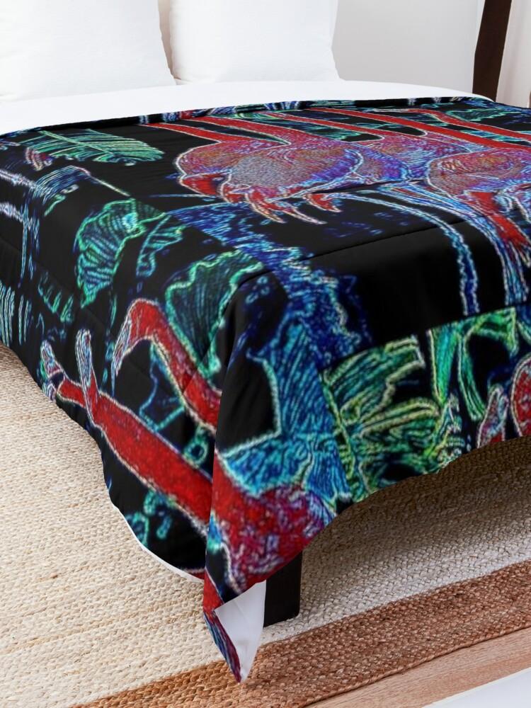 Alternate view of FLAMINGOS Comforter