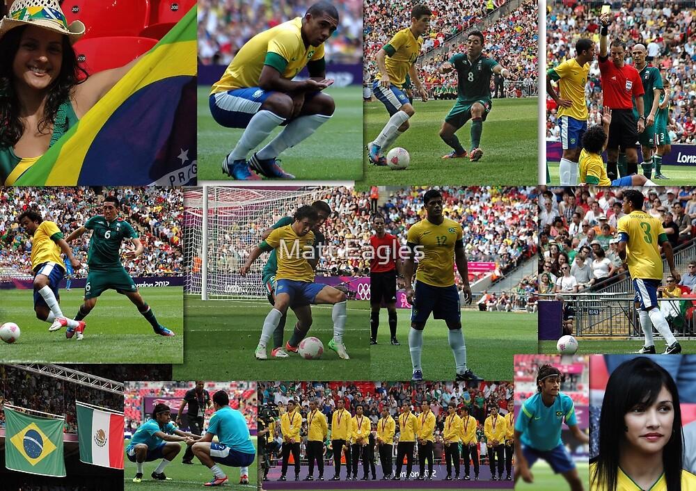 Brasil- London 2012 Olympic Football Final v Mexico  by Matt Eagles