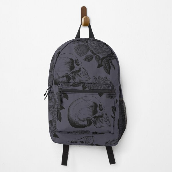 Skulls And Roses • Purple • Romantic Goth Backpack