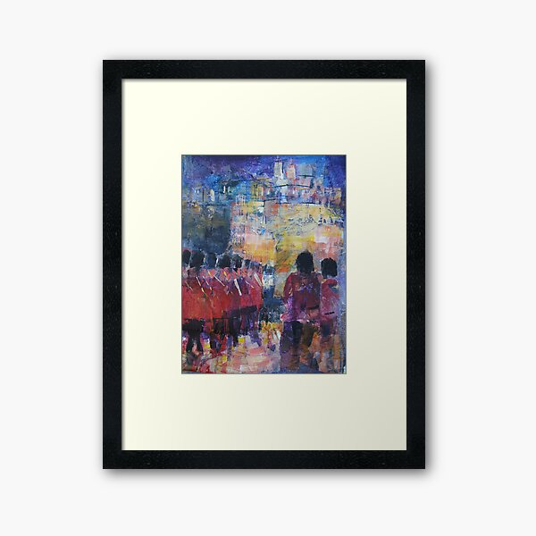 Marching Soldiers - Guards On Parade at Castle Framed Art Print