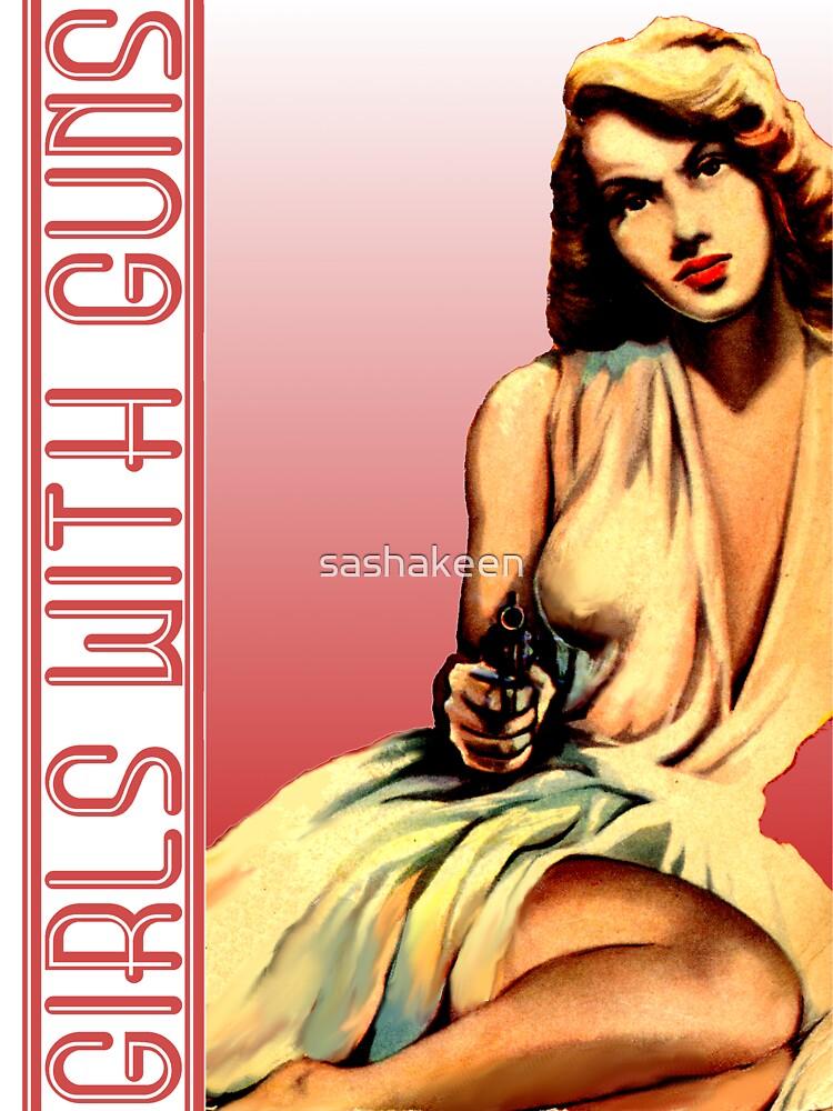 Chica con pistola de sashakeen