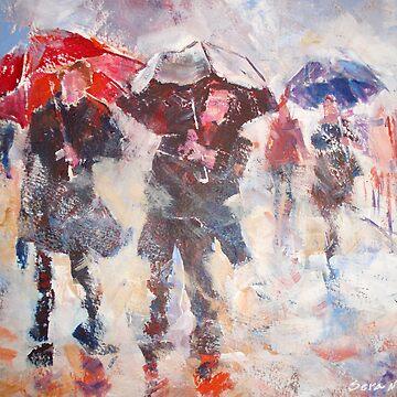 Pouring Rain - Umbrellas Art Gallery by ballet-dance