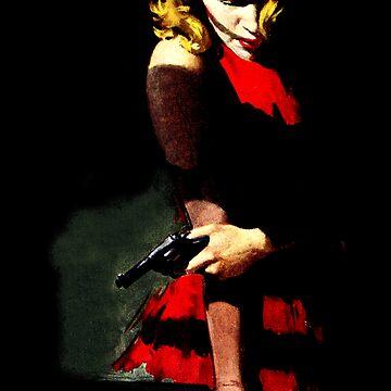 Diablo con un vestido rojo de sashakeen