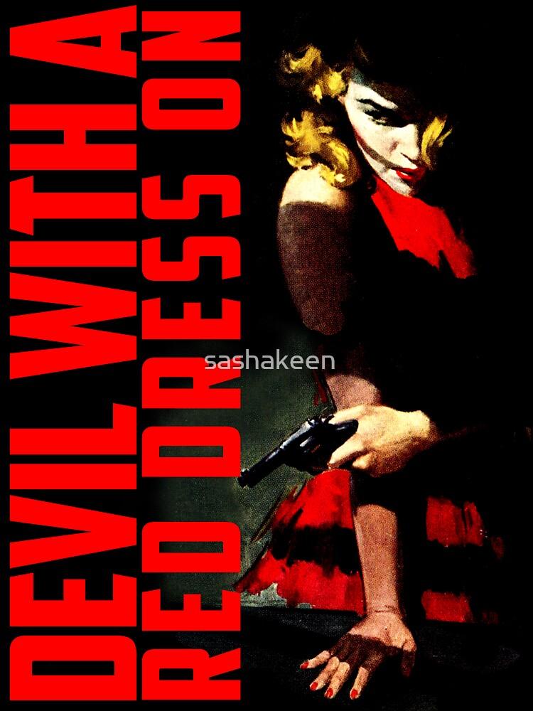 Diablo con un vestido rojo en de sashakeen
