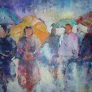 Busy Day In The Rain - Umbrellas Art Gallery by Ballet Dance-Artist