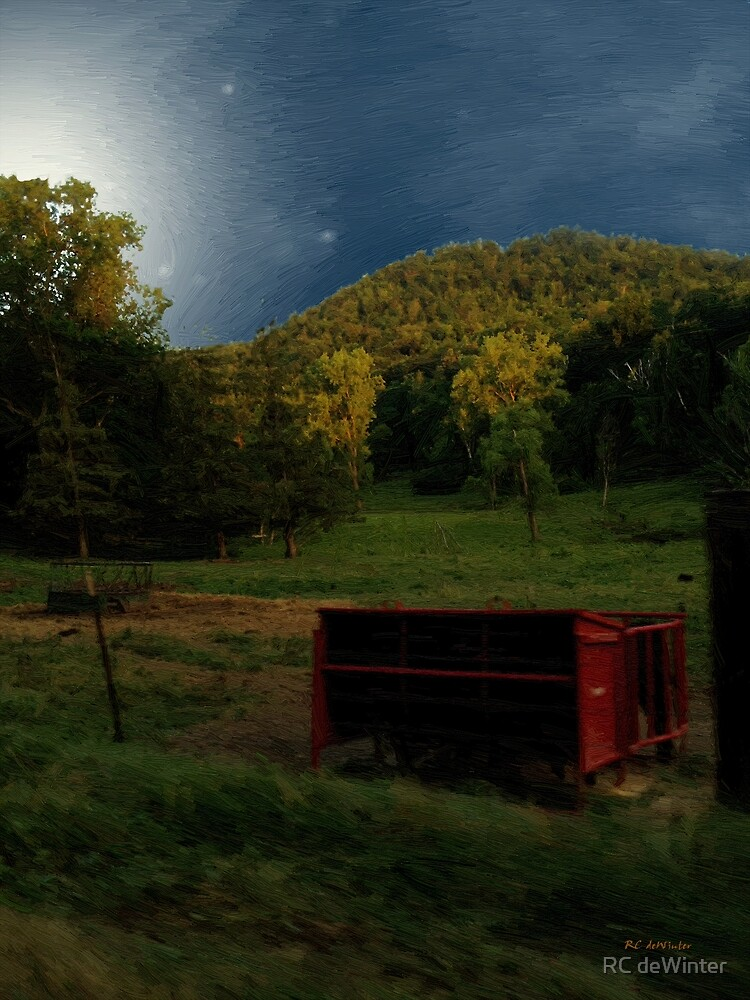 Wisconsin Valley Moonrise by RC deWinter