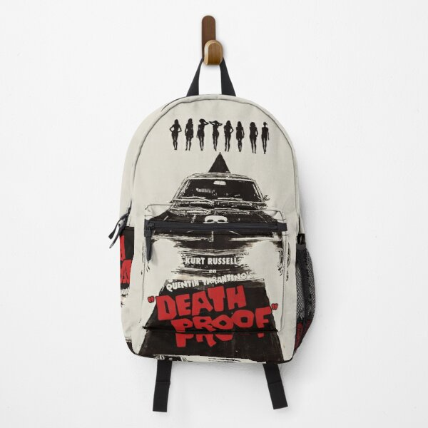 Death Proof Movie Poster Written And Directed By Quentin Tarantino Spanish Version Artwork, Posters, Prints, Tshirts, Mugs, Bags, Women, Men Backpack