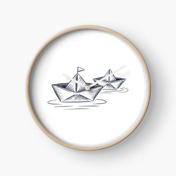 Paper ship Clock