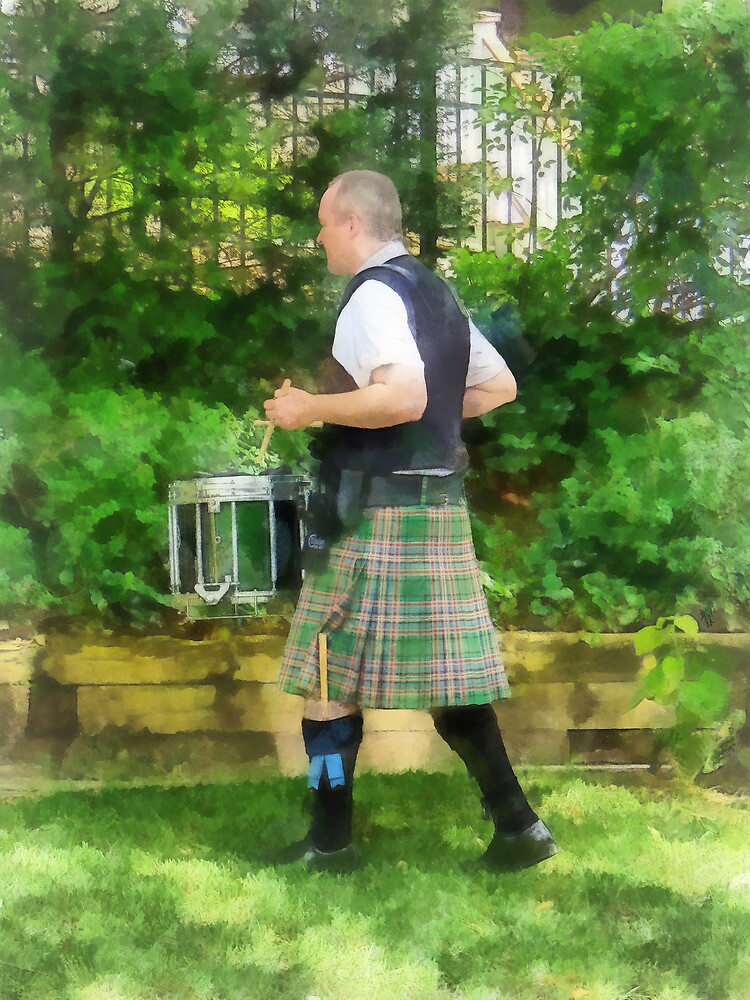 Music - Drummer in Pipe Band by Susan Savad