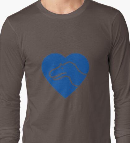 Dinosaur heart: Torvosaurus (Blue on white) T-Shirt