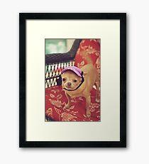 Zoe's Visor Framed Print