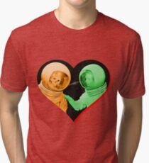 Love & Death Space Style Tri-blend T-Shirt