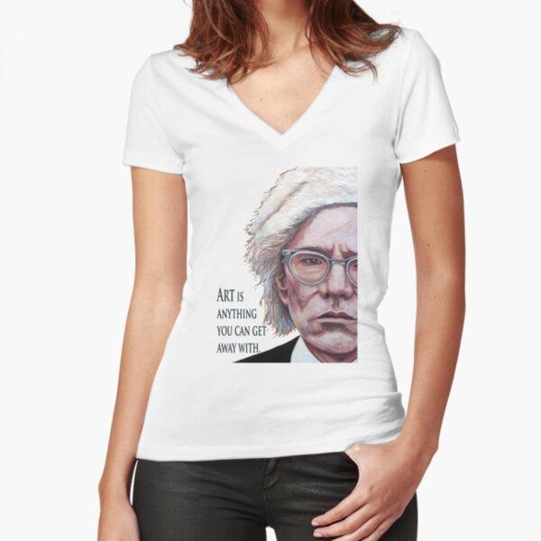 Mr. Warhol Fitted V-Neck T-Shirt