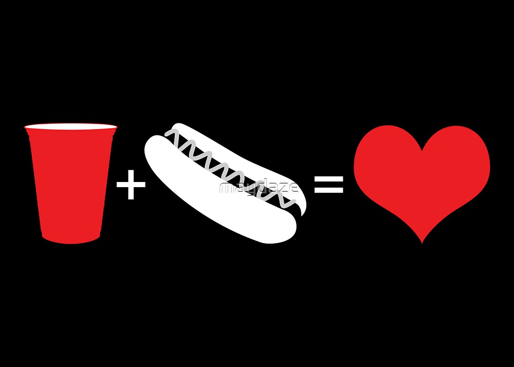 beer + hot dogs = love by maydaze